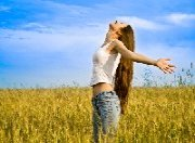 Financial Freedom of Happy Girl Brings Relief and Choices